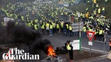'It's Macron's fault' parts of France in gridlock as thousands protest fuel tax hikes