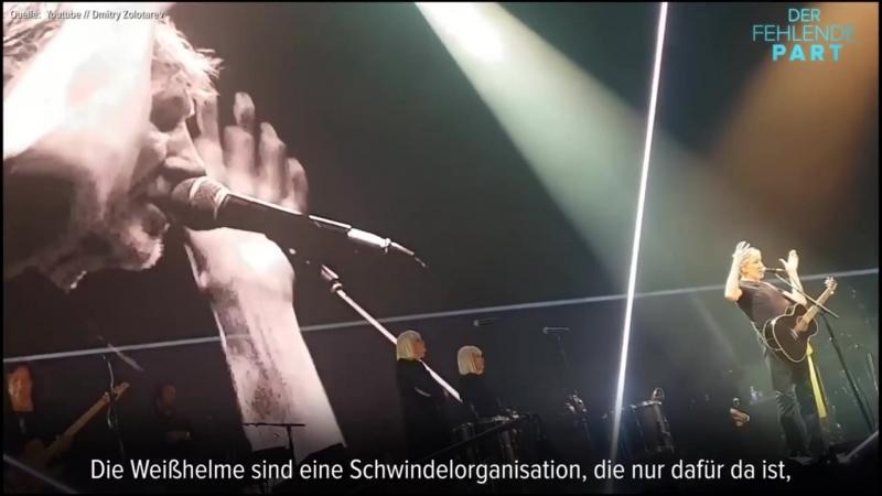 Ex-Pink-Floyd-Sänger Roger Waters äußert sich zum Krieg in Syrien und den Weißhelmen