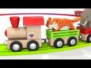 Песни для детей от 1 года. Развивающие мультики про машинки. Паровоз - зоопарк. Животные для детей.