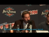 Troy Baker recites Jokers Killing Joke monologue -NYCC 2013 rus sub