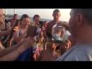 Шахматный уж выплыл на пляж Огонёк в Адлере!