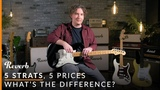 5 Strats, 5 Prices What's the Difference Reverb Tone Report