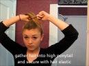 Tutorial- upside down french braid into sock bun