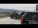 Внедорожник и легковой автомобиль столкнулись перед Новоалександровском