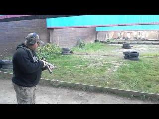 Тестовая стрельба с карабина Сайга Мк03 в калибре .223Rem. с супрессором фирмы
