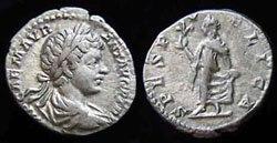 Древнеримские женщины-богини, монеты, Спес