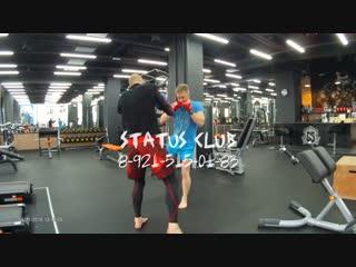 Индивидуальная тренировка Дима - Дзёдан хидза-гери - Подготовка бойца. Мурманск