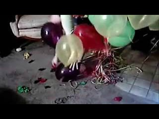 Popping Helium Balloons with Bare Feet and Finger Nails