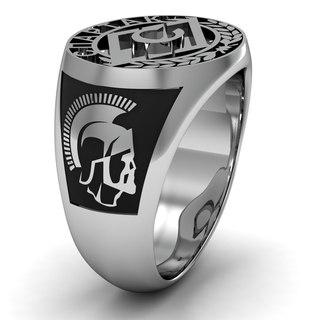 кольцо золотое мужское с бриллиантами и сапфирами