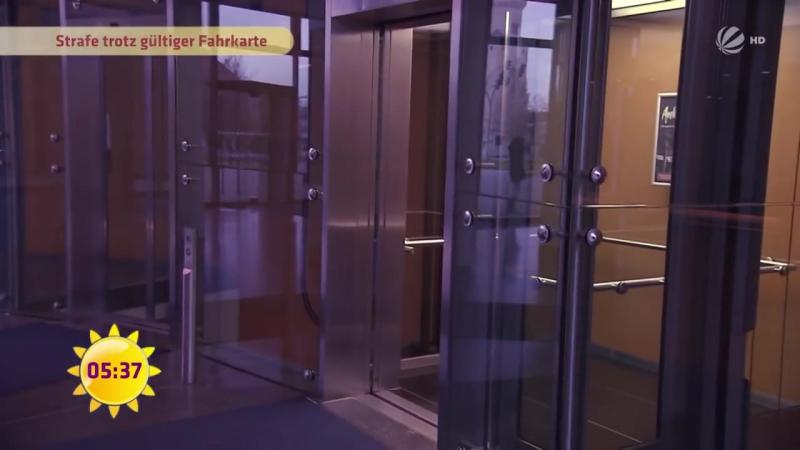 FRAU -78- bekommt Strafe- weil sie ZU LANGSAM IHR TICKET ZEIGTE - SAT-1 Frühstücksfernsehen - TV