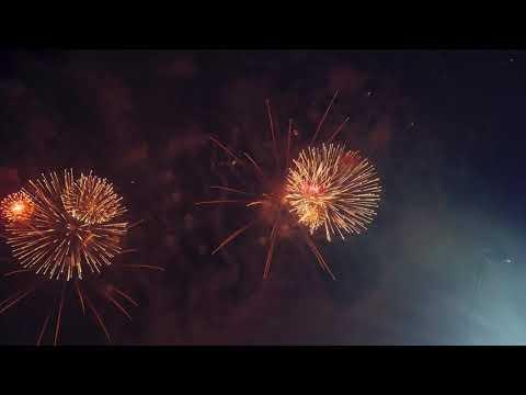 Салют Фейерверк ко дню города Армавира 15 09 2018 4K с земли и воздуха ускоренная