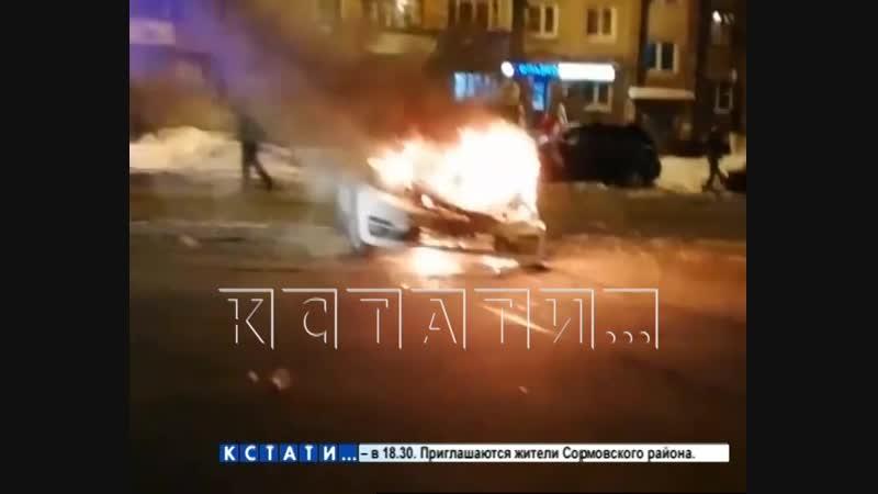Короткое замыкание и человеческое равнодушие привели к пожару на дороге