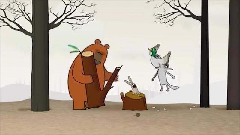 The Duck - funny cartoons ¦¦ Log Jam series