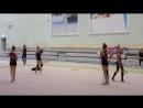 Тренировка по художественной гимнастике