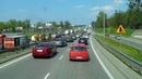Едем скоростной польской дорогой на Литву через Варшаву Необычный тонель в Польше