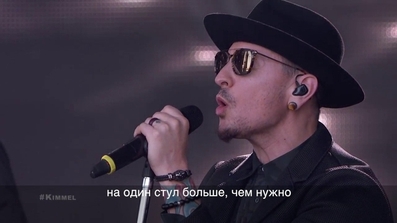 Linkin Park Performs One More Light russian subtitles