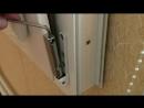 Регулировка нижней петли пластикового окна или балконной двери