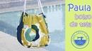 Paula, el bolso de tela con patrones gratis