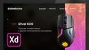 Спид Aрт в Adobe XD | Дизайн промо сайта SteelSeries