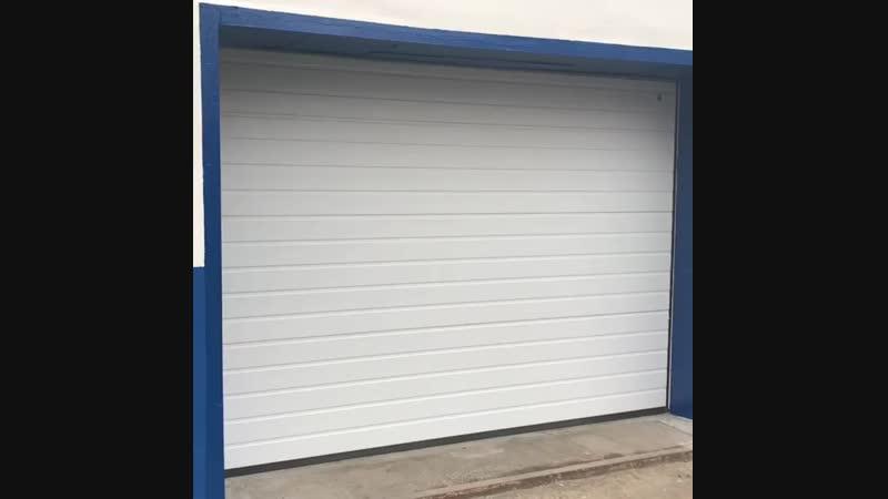 ворота гаражные секционные, производства Alutech 🇧🇾, с электроприводом, серия Trend с пружинами растяжения, панель S-гофр, цвет