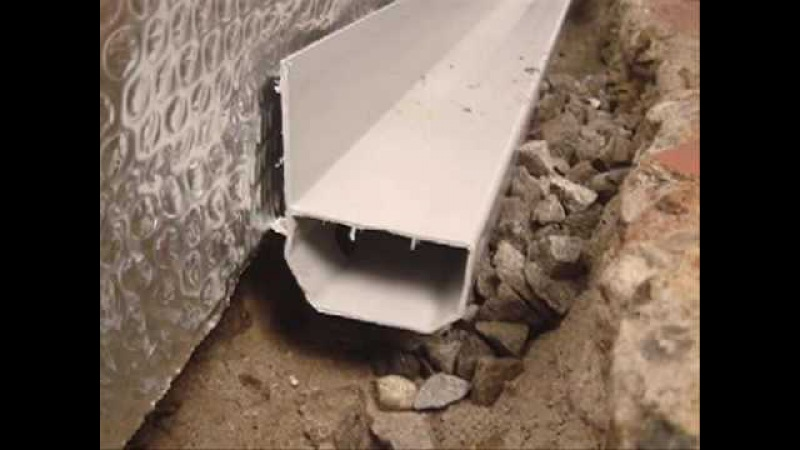 Basement Waterproofing - WaterGuard Perimeter Drainage Channel