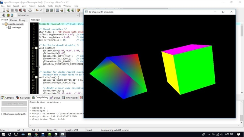 Install dan Konfigurasi OpenGL GLUTfreeGLUT pada Dev-C