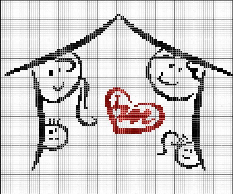 Схемы вышивок крестом семья 205