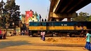 Railway. Bangladesh Railway Crossing near Tongi Station / Проезд железнодорожного переезда в Тонги