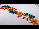 Hand Embroidery border design by nakshi katha