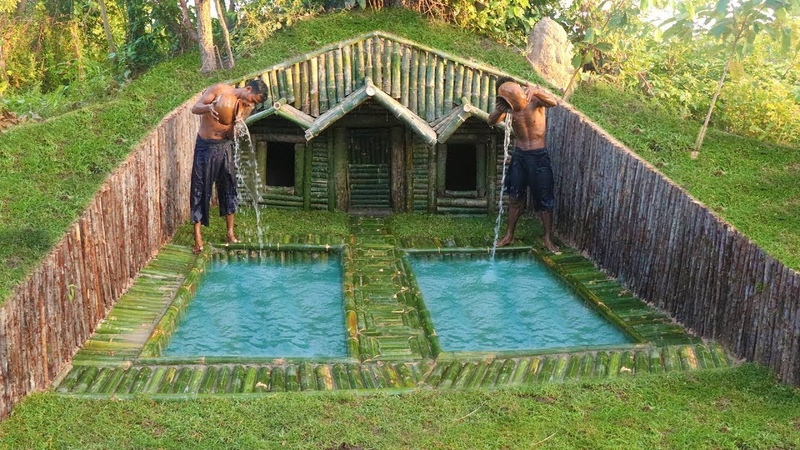 Build House Under The Wood roots Add Two Swimming Pool
