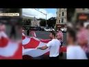 Спасибо Россия хорватские болельщики развернули 50 метровый баннер в центре Москвы