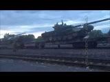 Эшелон русских танков Т - 72 возле границы Украины. Суджа Россия 11.07.2014