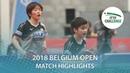 Saki Shibata Odo Satsuki vs Sarah De Nutte Ni Xialian 2018 ITTF Belgium Open Highlights Final