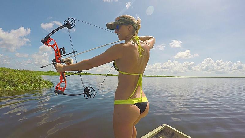 Bikini Bowfishing for Tilapia Central Florida Part 1