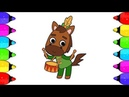 Horse Coloring Page   How to draw Horse Drummer Coloring book   Drawing for kids