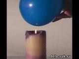Наука магии. Фокус с шариком и свечой