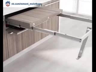 Интересный раскладной столик для кухни 😊✌🏻