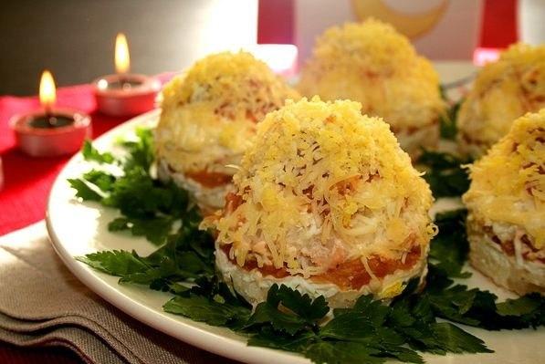 Новогодние рецепты Салат Мимоза
