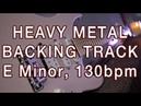 Heavy Metal Jam Track in E Minor, 130bpm version 2