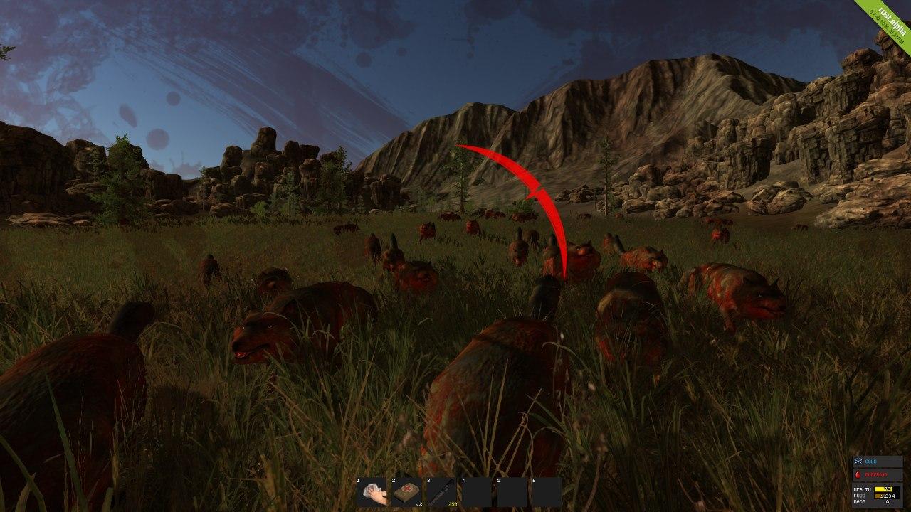 Нападенье красных волков в Rust