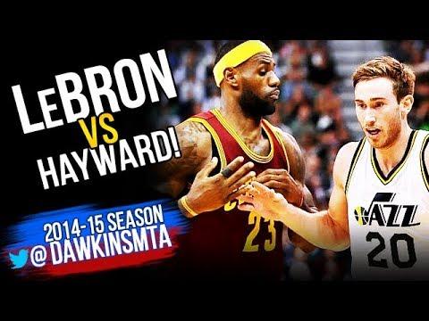 LeBron James vs Gordon Hayward Full Duel 2014.11.05 - LBJ With 31, CLUTCH Hayward With 21! » Freewka.com - Смотреть онлайн в хорощем качестве