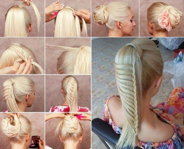 Пошаговые прически на длинные волосы своими руками фото пошагово