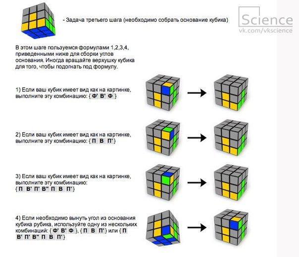 кубик рубика схема сборки