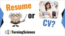 Resume vs CV What's the Difference