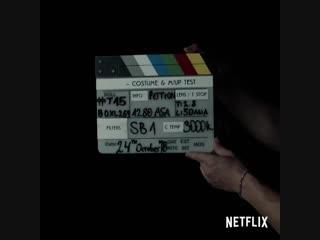 Фрагмент съемок сериала Ведьмак