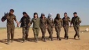 Kurds celebrating, ISIS caliphate is crushed in Iraq Syria