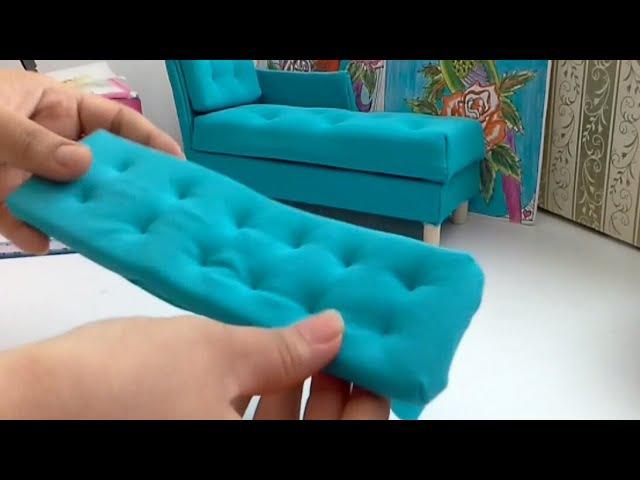 Manualidad: colchón para sofá de muñecas♡diy doll's sofa cussion