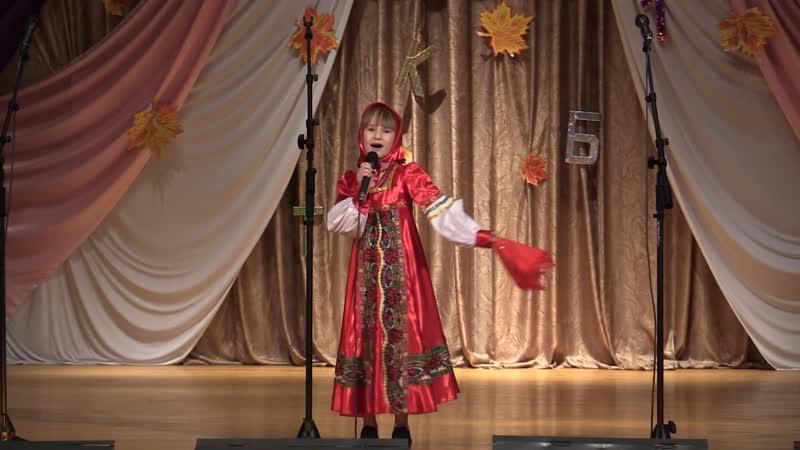 Русская народная песня Гармошки-черепашки, исполняет Ревякина Арина, Колпнянская ДШИ