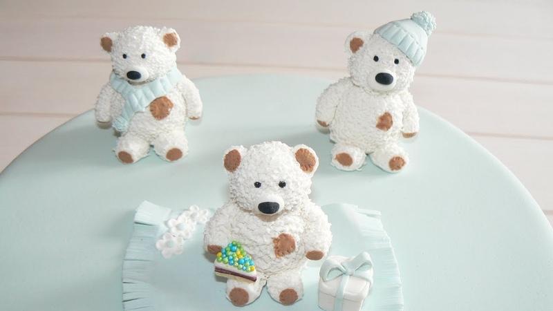 Мишка Тедди из мастики. TEDDY bear. Торт с мишками