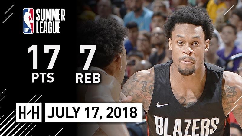 KJ McDaniels Full Highlights vs Lakers (2018.07.17) NBA Summer League - 17 Pts, 7 Reb